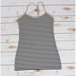 Lululemon Size 4 Power Y Tank Striped Athletic Top